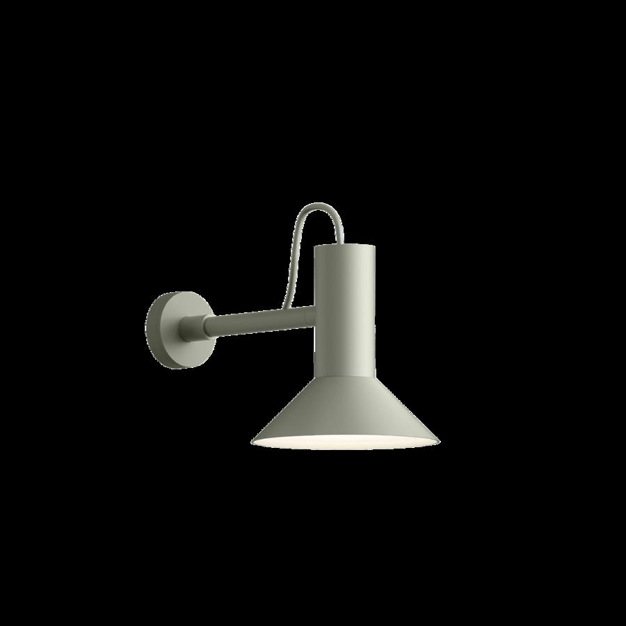 מנורת קיר לבנה מתכת הארה כלפי מטה