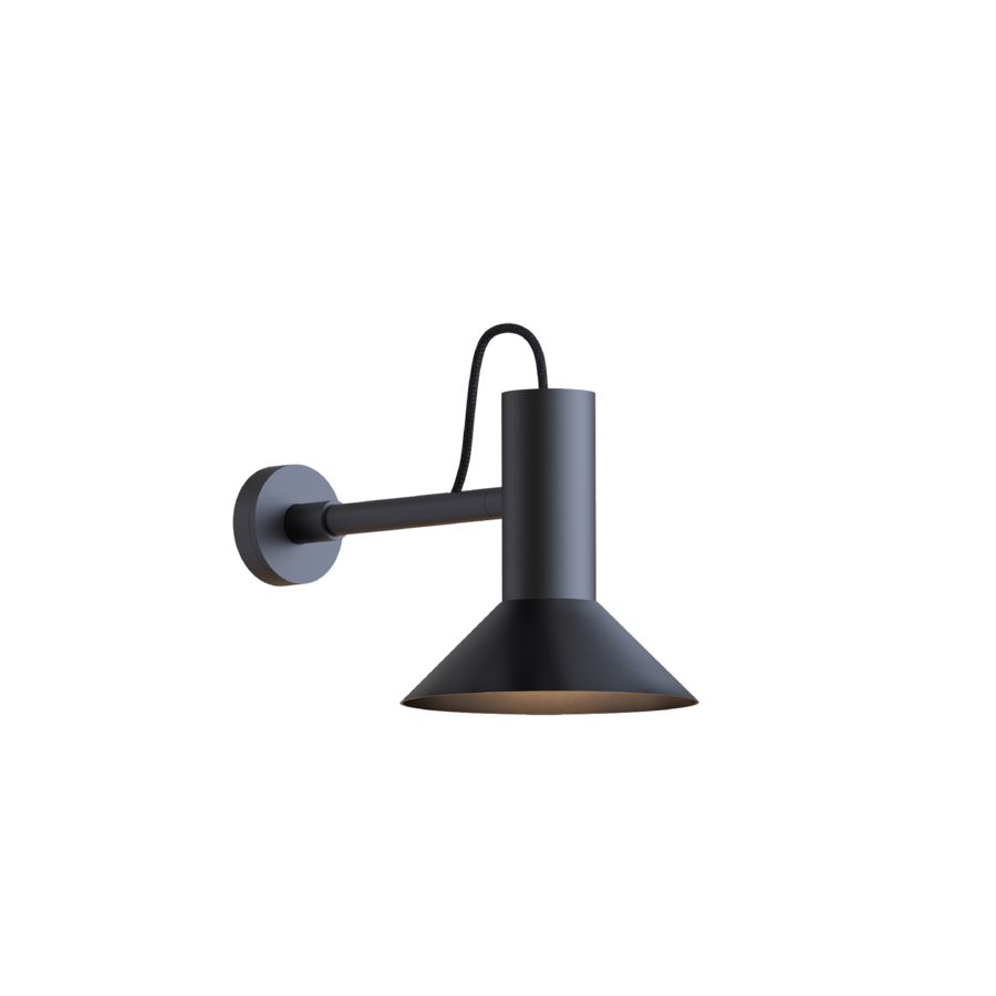 מנורת קריאה קיר שחורה מתכת