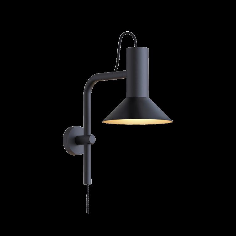 מנורת קיר שחורה מתכת דגם 4003