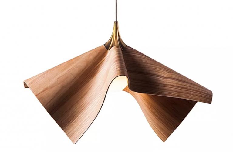 מנורה תלויה עץ מכופף