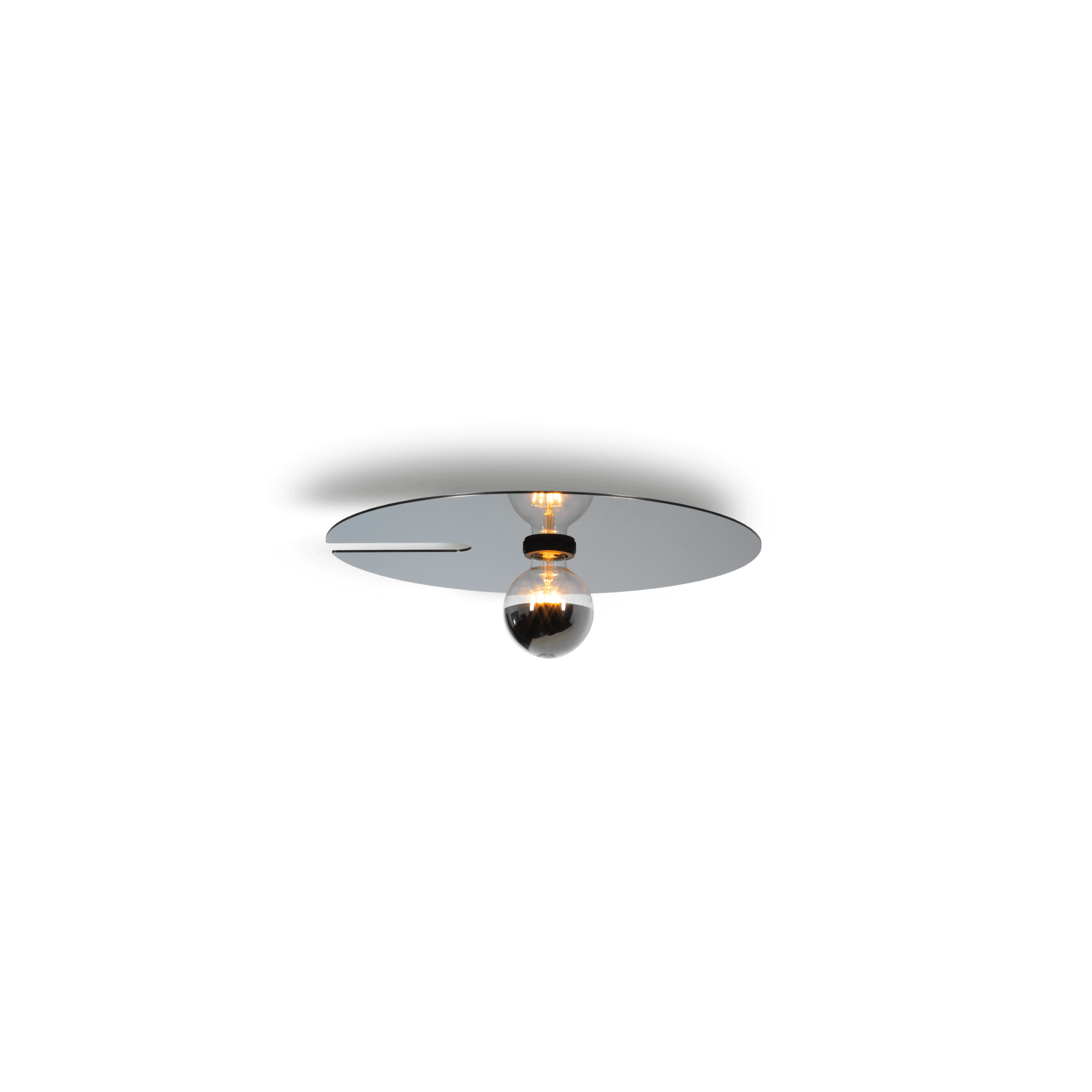 מנורת תקרה דיסקית אפורה