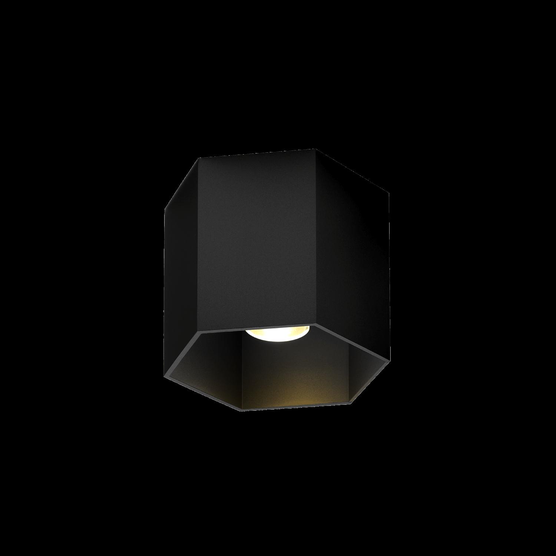 צילינדר משושה שחור צמוד תקרה