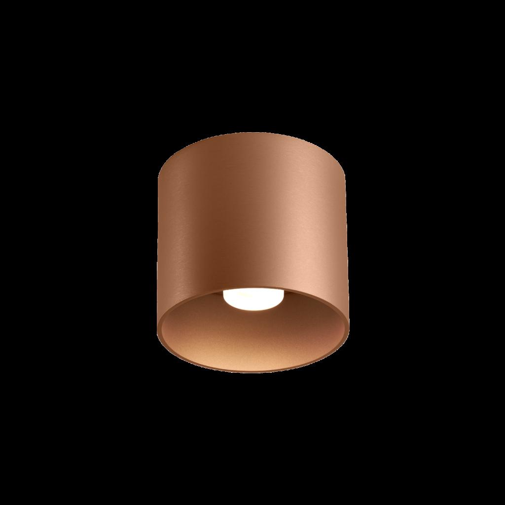 גוף תאורה צילינדר צמוד תקרה עגול גוון ברונזה