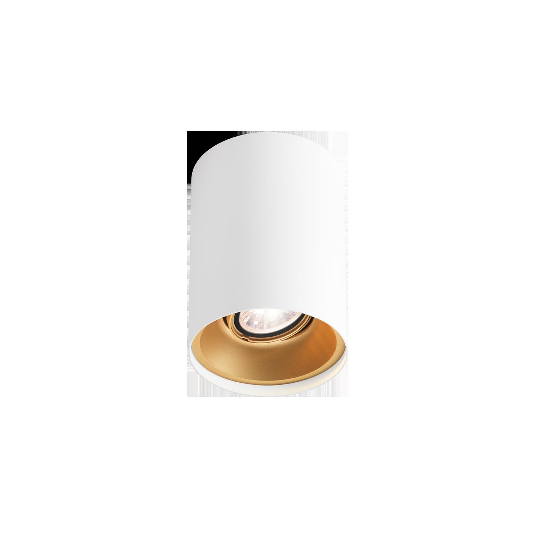 גוף תאורה צילינדר צמוד תקרה עגול גוון לבן