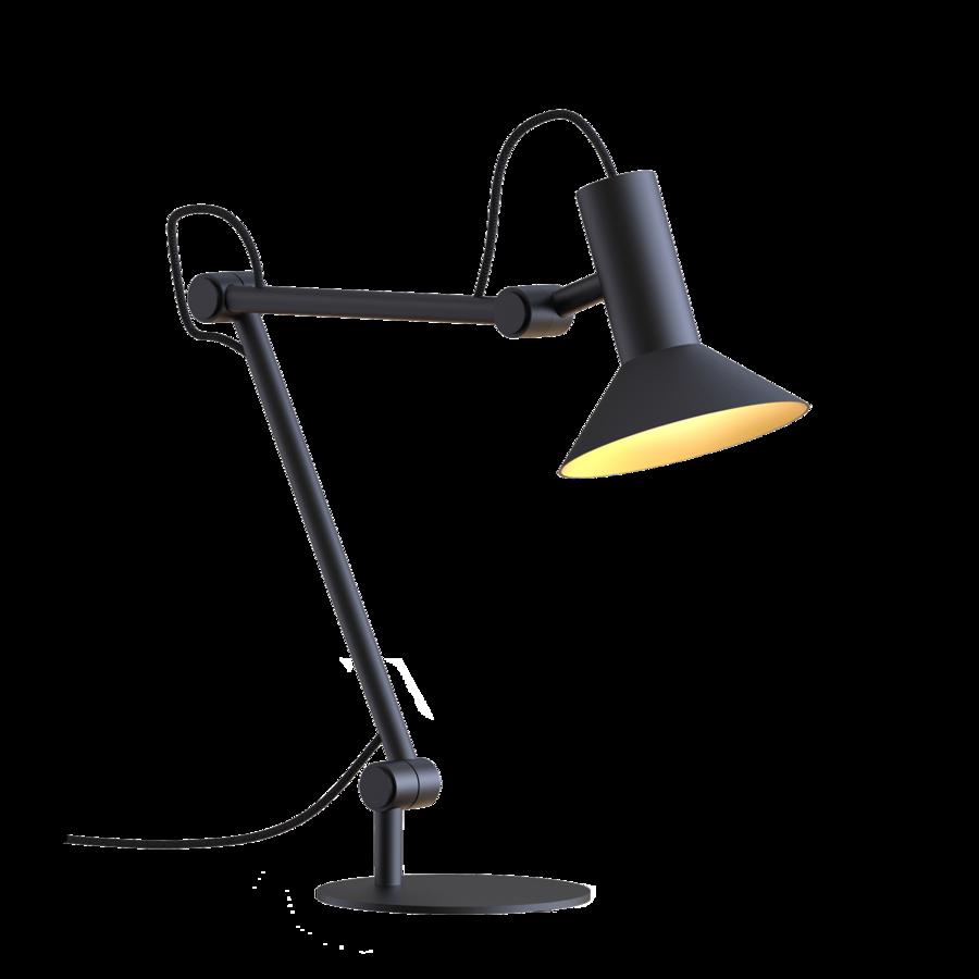 מנורה מתכווננת מעוצבת לשולחן עבודה צבע שחור