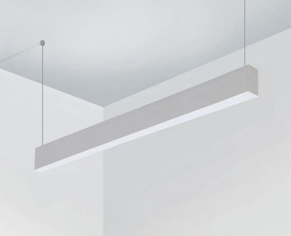 פרופיל תאורה תלוי צר לבן
