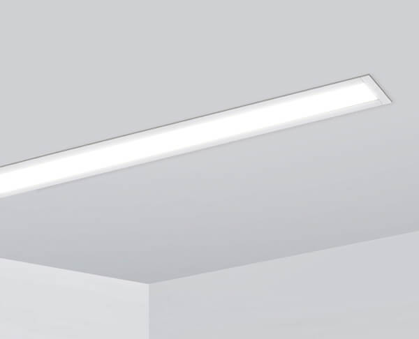 פרופיל תאורה שקוע צר לבן
