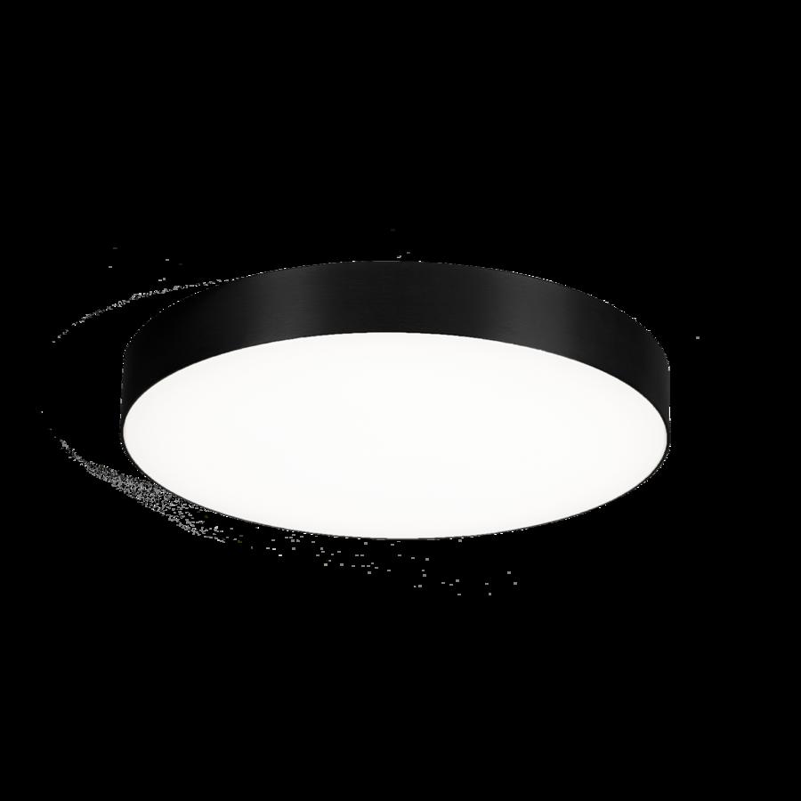 גוף תאורה צמוד תקרה עגול מסגרת שחורה