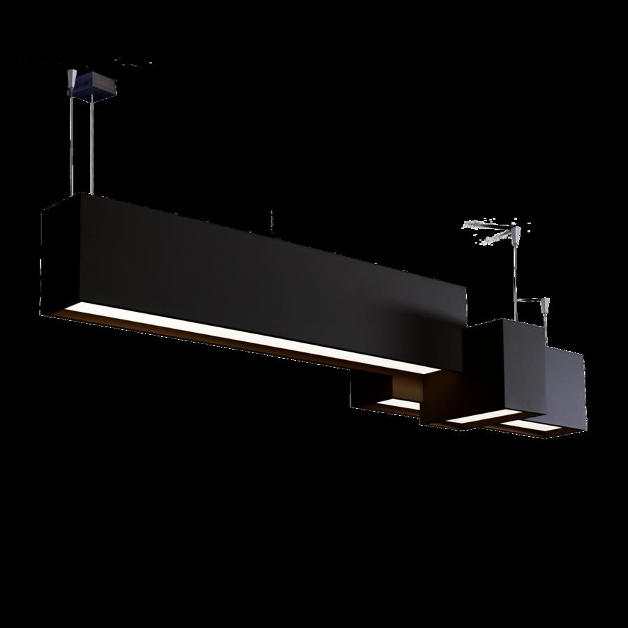 מנורות תקרה לסלון מלבנים גיאומטרים שחורים