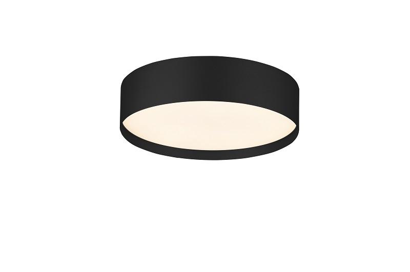 תאורה צמודת תקרה גוף עגול מסגרת שחורה