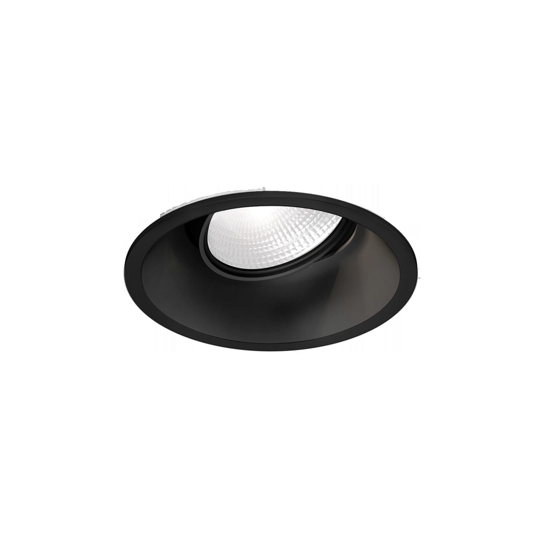 שקוע שחור עגול - נורה ניתנת לכיוונון