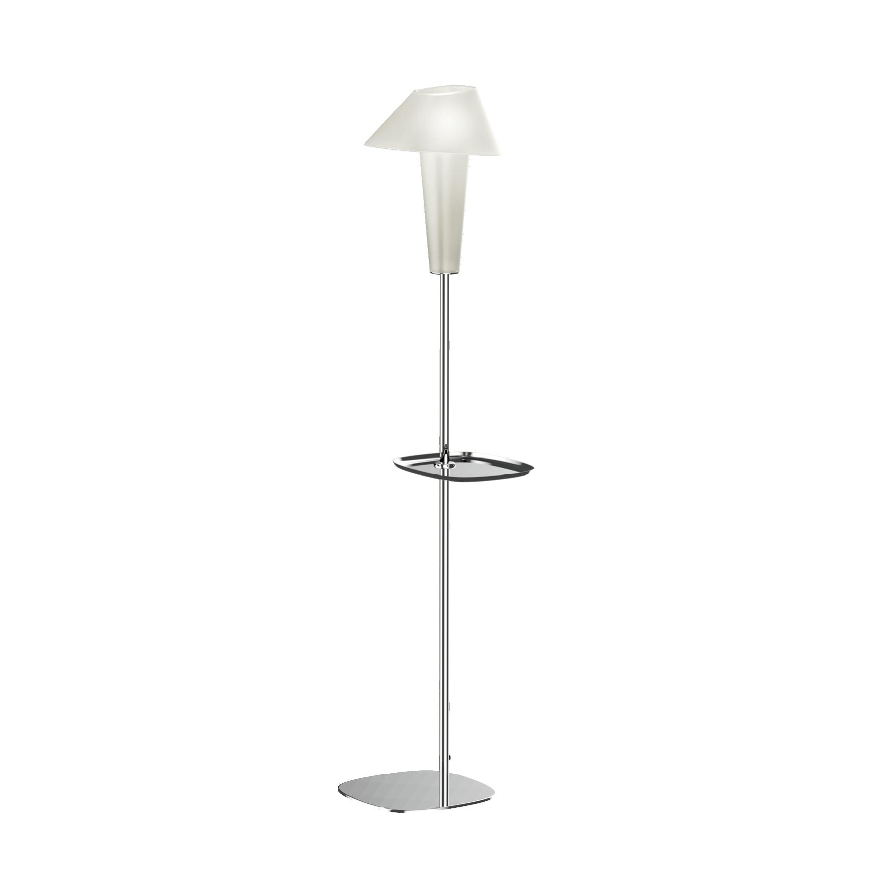 מנורה עומדת זכוכית wever and ducre עם מדף צד
