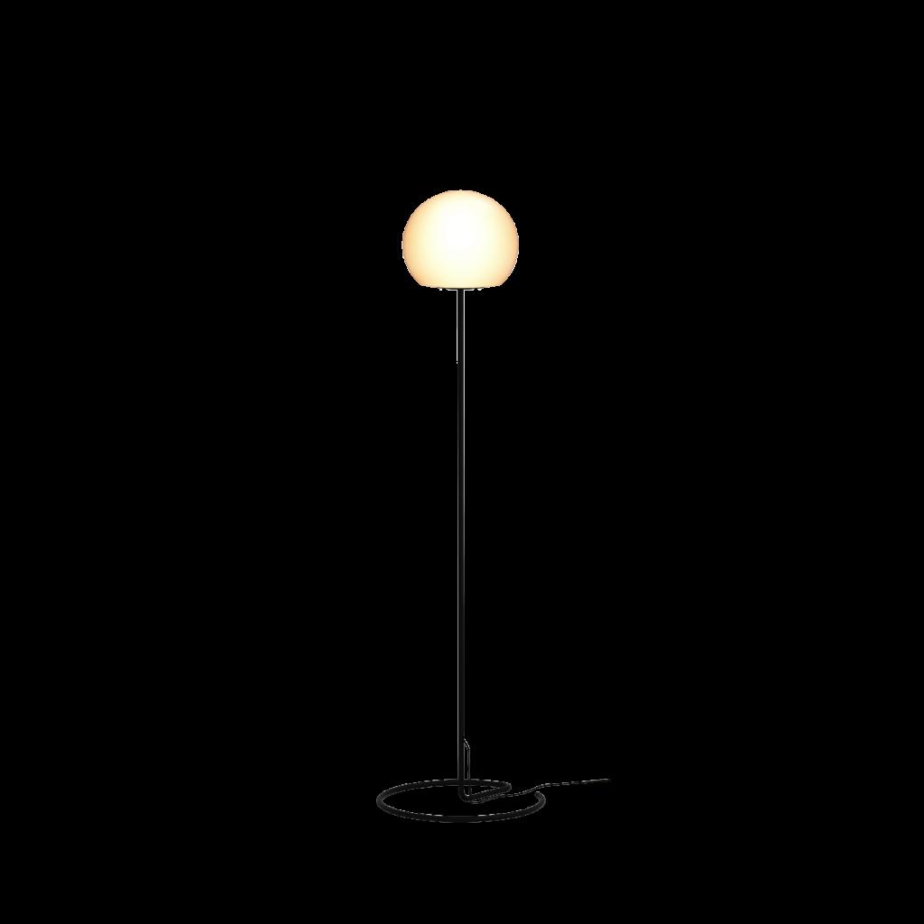 מנורת עמידה מעוצבת אהיל בהיר עגול