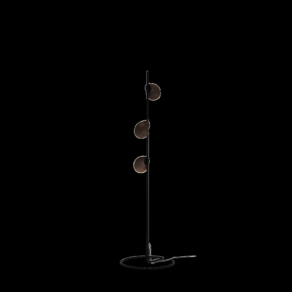 מנורה עומדת שחורה מעוצבת שלושה בלונים