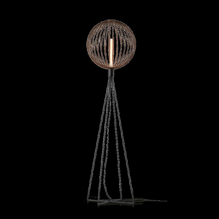 מנורה עומדת כדור פסים בסיס ארבע רגלים
