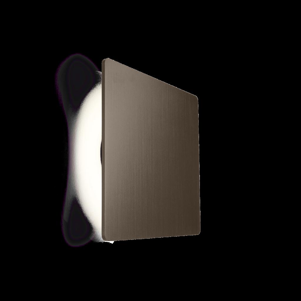 מנורת קיר אינלייט ריבוע חום
