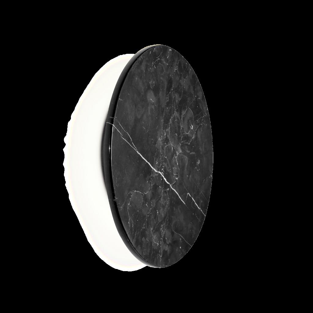מנורת קיר אינלייט עיגול מרקם שיש שחור