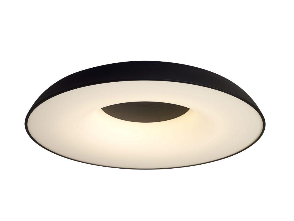 מנורה צמודת תקרה אבוב מסגרת חיצונית שחורה גוף פנימי לבן