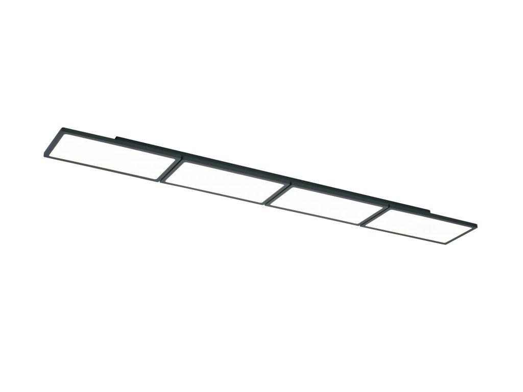 מנורות צמודות תקרה סדרת מלבנים מסגרת שחורה גוף לבן