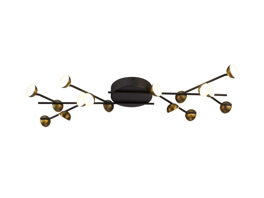תאורה לסלון צמוד תקרה דקורטיבית ענפים עם נורות לד