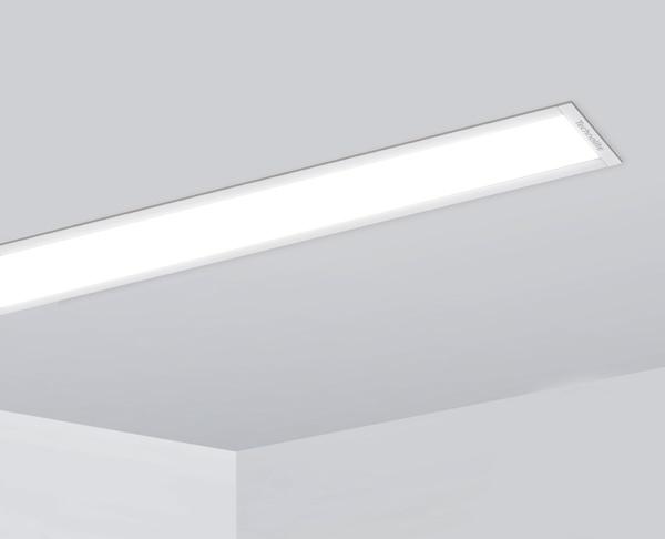 פרופיל תאורה שקוע לבן