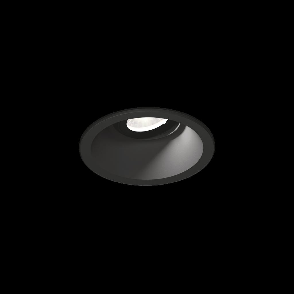 תאורה שקועה ספוט קטן שחור מתכוונן