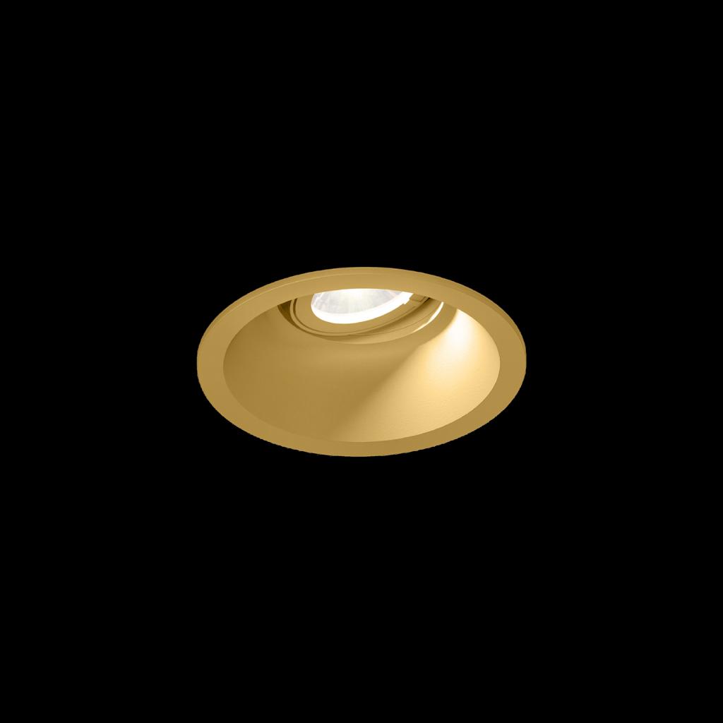 תאורה שקועה ספוט קטן זהב מתכוונן