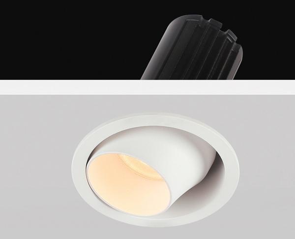 תאורה שקועה ספוט לבן קטן מתכוונן