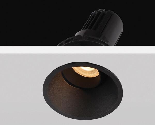 תאורה שקועה ספוט קטן שחור מתכונן