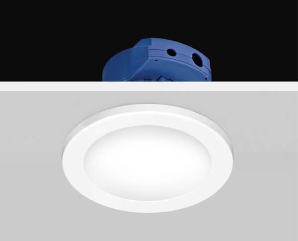 תאורה שקועה גוף לבן שטוח