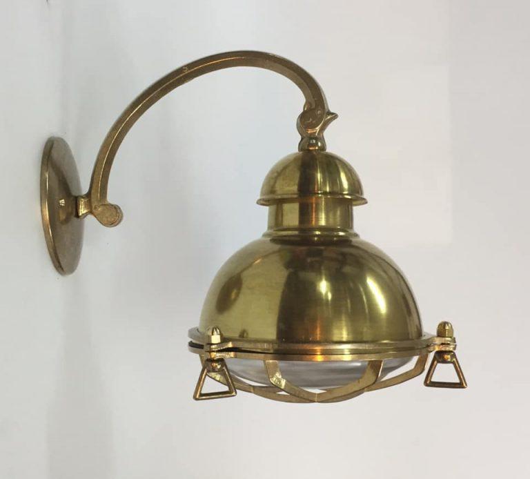 תאורת חוץ כפרית מנורת קיר פליז מראה וינטג' 3