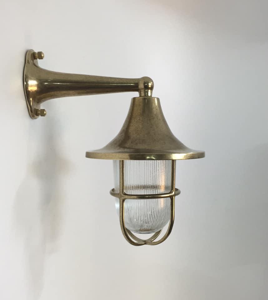 תאורת חוץ כפרית מנורת קיר פליז מראה רטרו 2