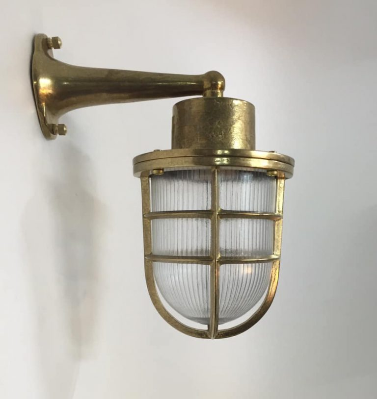 תאורת חוץ כפרית מנורת קיר פליז מראה רטרו 1