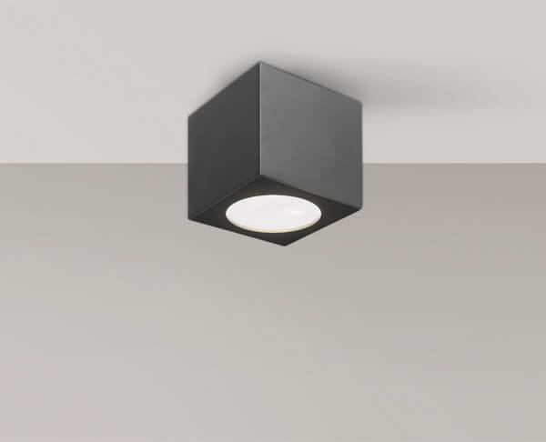 מנורה צמודת תקרה מוגנת מים לחוץ ריבוע שחור