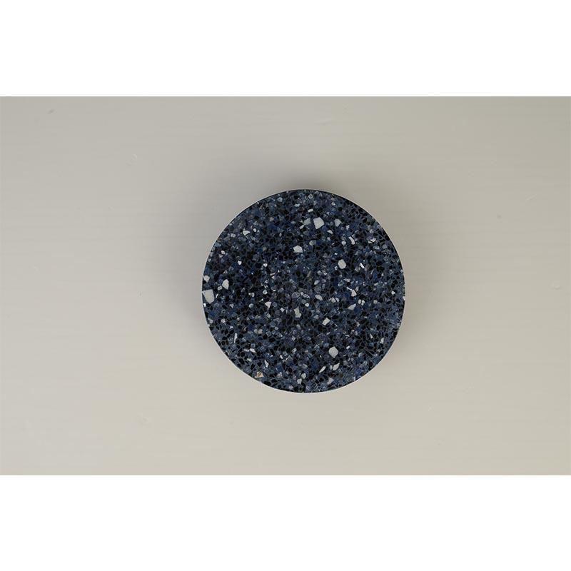 מנורת קיר אינלייט דסקית עגולה מרקם שיש שחור כחול