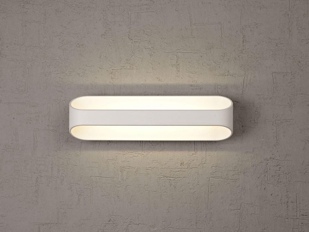 מנורות קיר מעוצבות מראה נקי מלבן לבן מעוגל
