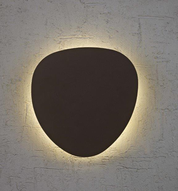 מנורות קיר מעוצבות- גוף תאורה צמוד קיר מעוגל תאורת אווירה
