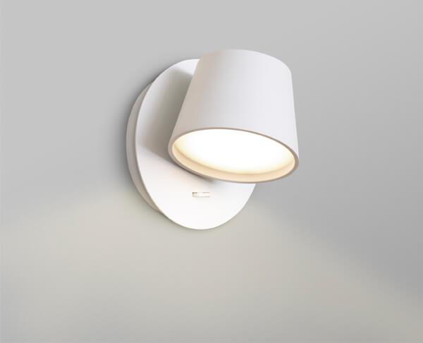 מנורת קיר קריאה מראה נקי לבן