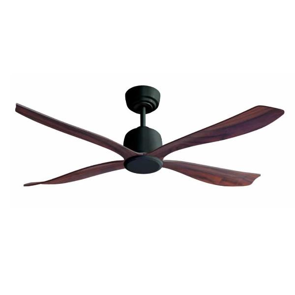 מאוורר תקרה סווינג גוף שחור כנפיים עץ