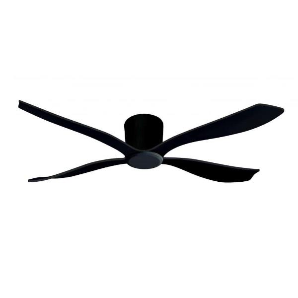 מאוורר תקרה סווינג גוף וכנפיים שחורות לתקרות נמוכות