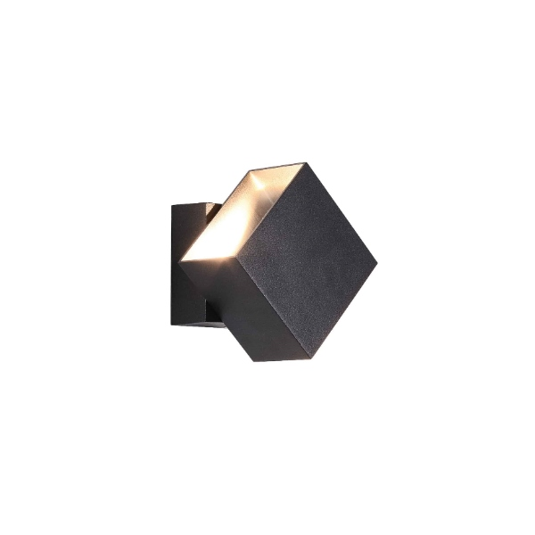 מנורת קיר ריבועית מוגנת מים לד מובנה אפ דאון מתכוונן