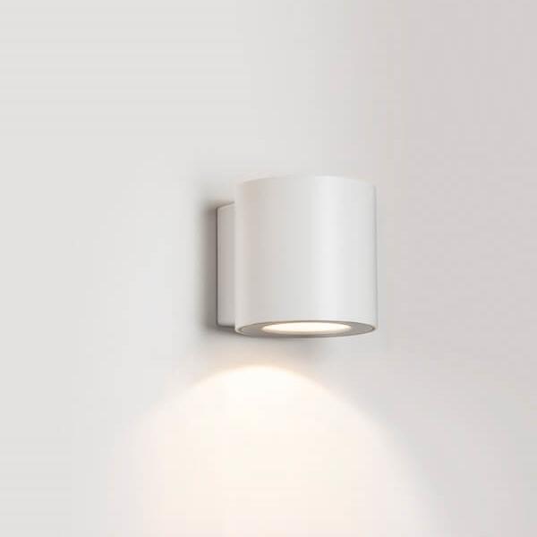 מנורת קיר מוגנת מים דאון לייט אלומיניום לבן