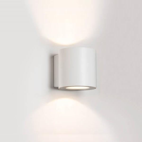 מנורת קיר מוגנת מים אפ דאון לייט אלומיניום לבן